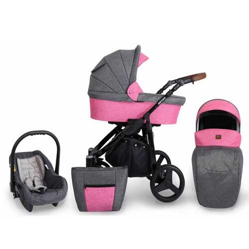 Καρότσι,-Πορτ–-Μπεμπέ-&-Κάθισμα-Αυτοκινήτου-0-10-kg-Kunert--Rotax-Dark-Grey-–-Roze