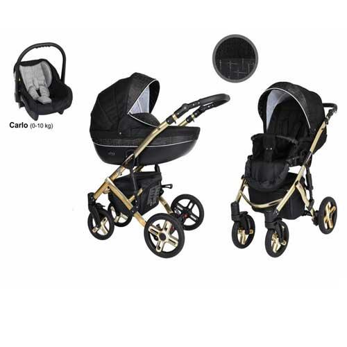 Καρότσι,-Πορτ-Μπεμπέ--Κάθισμα-Αυτοκινήτου-0-13-kg-Mila-Premium-Gold-Black