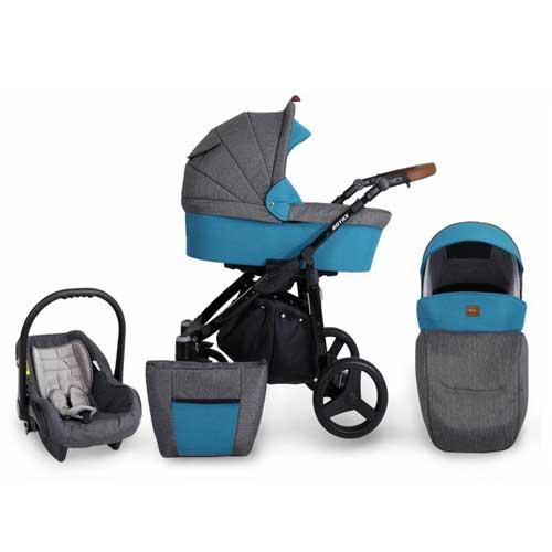 Καρότσι,-Πορτ-–-Μπεμπέ-&-Κάθισμα-Αυτοκινήτου-0-10-kg-Kunert---Rotax-Dark-Grey-–-Blue